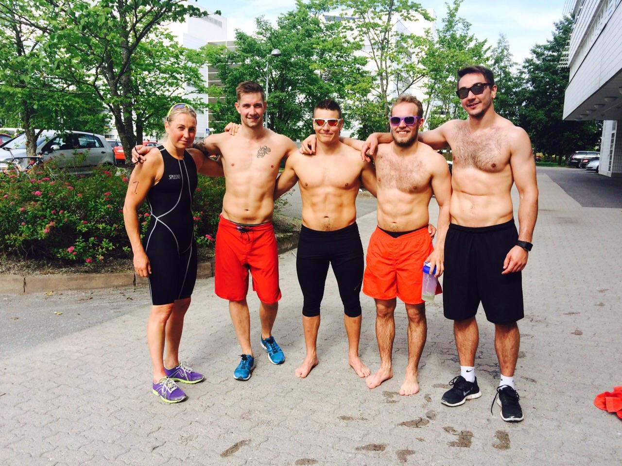 CrossFit Jyväskylä kisasi Jyväsjärvi-triathlonissa